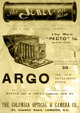 Advert for Pecto camera
